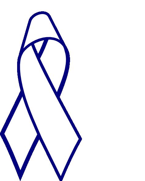 474x594 Blue Outline Cancer Ribbon Clip Art