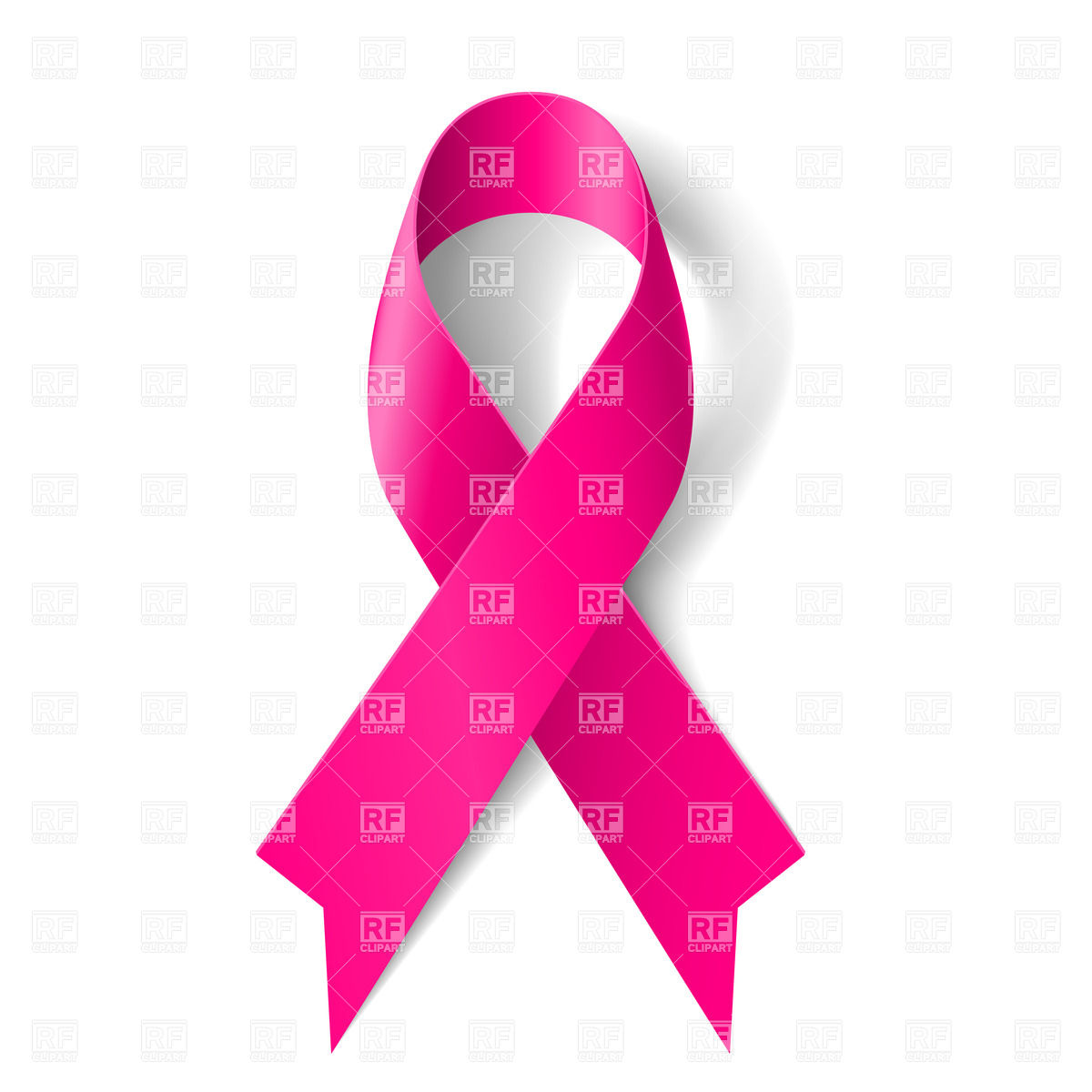 1200x1200 Breast Cancer Awareness Pink Ribbon On White Background Royalty