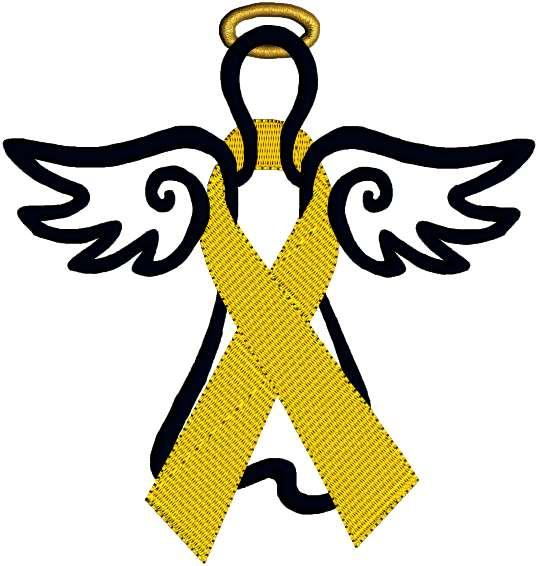 538x566 Childhood Cancer Ribbon Clip Art Yellow Cancer Ribbon Awareness