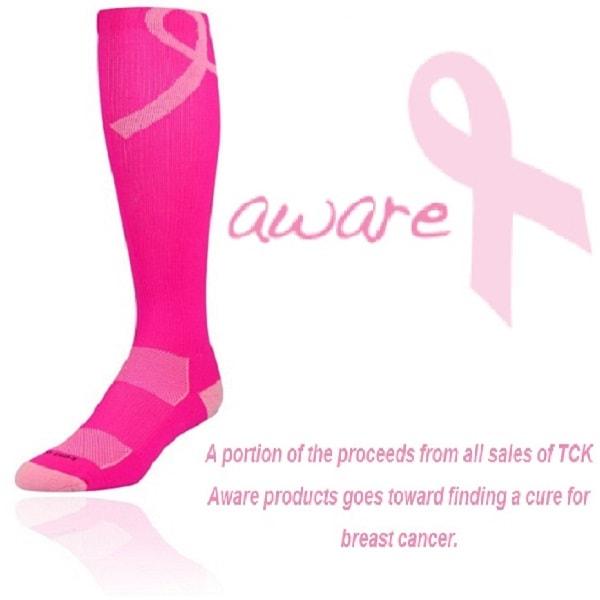 600x600 Pink Ribbon Breast Cancer Awareness Football Socks Tck
