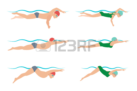 450x300 396 Breaststroke Stock Vector Illustration And Royalty Free