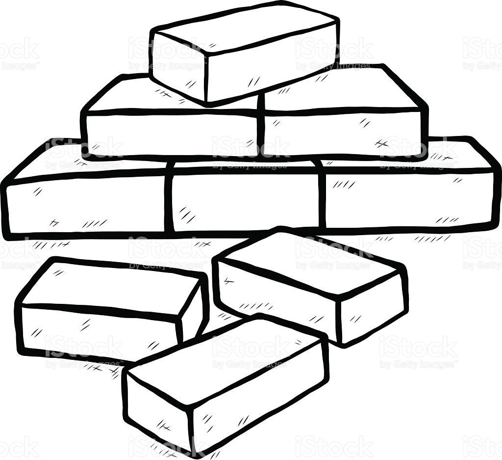 1024x937 Brick Clipart Pile Brick