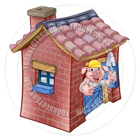 460x460 Three Little Pigs Fairy Tale Brick House By Geoimages Toon