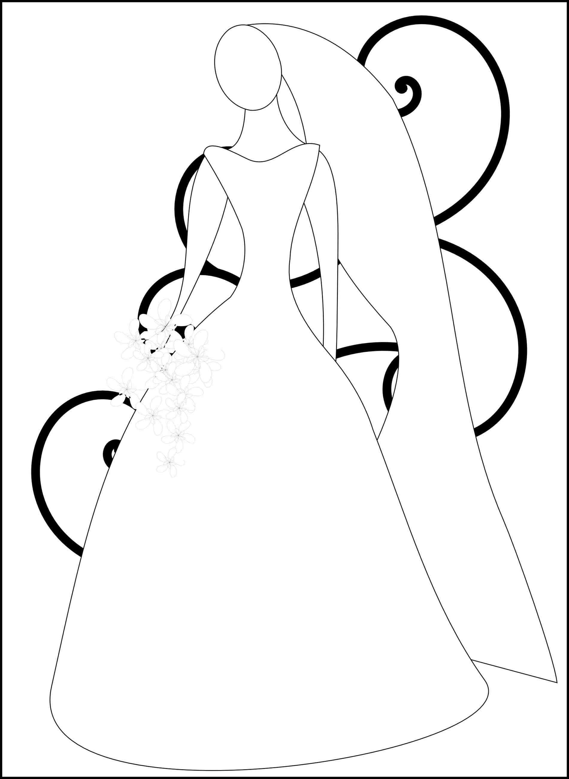 Bridal shower clipart free download best bridal shower for Bridal shower coloring pages