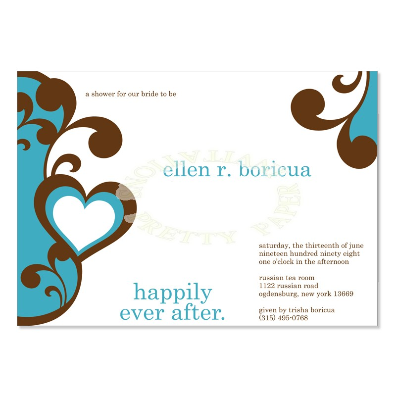 800x800 Blue Amp Brown Bridal Shower Invitation Templates