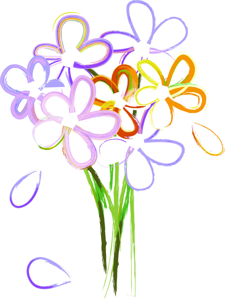 771x1024 Clipart Of A Bouquet Of Flower