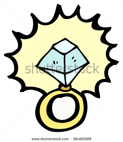 409x470 Engagement Ring Cartoon Picture 42 In The Wedding Bridal Shower