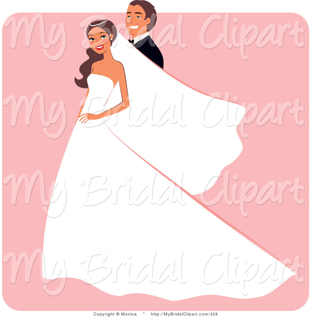 1024x1044 Bridal Clipart Of A Smiling Groom Posing Behind His Bride By