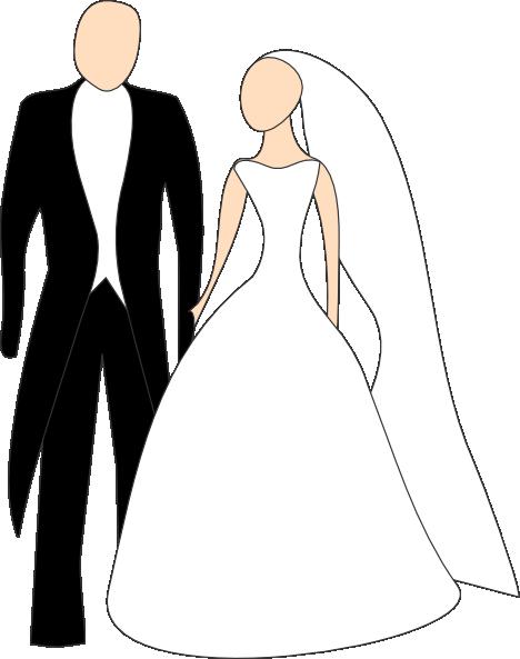 468x593 Bride And Groom Clip Art