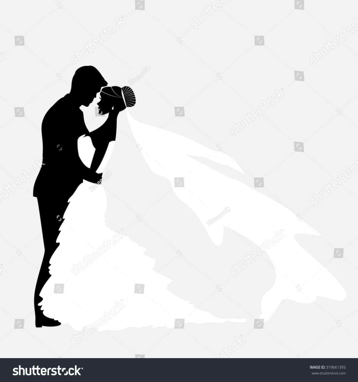 1185x1264 Bride And Groom Silhouette Clipart Black And White