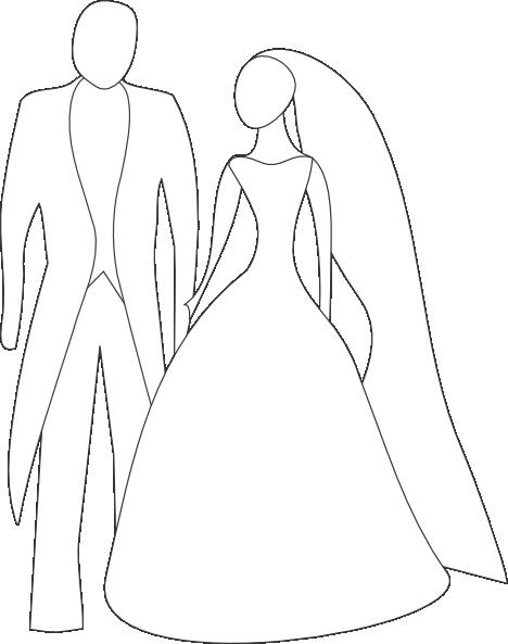 468x593 Kattekrab Bride And Groom Clip Art
