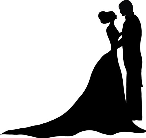 500x472 Best Bride And Groom Silhouette Ideas Wedding