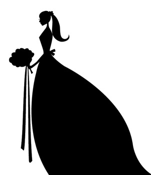301x350 Bride Silhouette Clipart