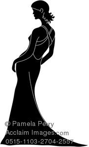181x300 Art Image Of A Pretty Bride Silhouette