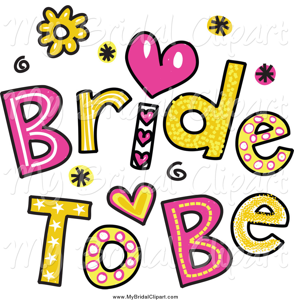 1024x1044 Bridal Clipart Of Colorful Bride To Be Text By Prawny