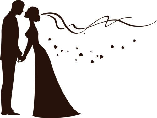 500x377 Bride And Groom Clipart Black And White Weddingdecoration 2