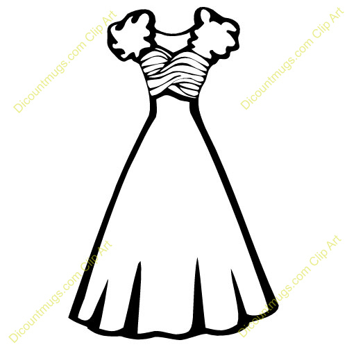 500x500 Clipart White Wedding Dress