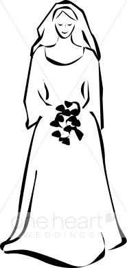 185x388 Smiling Bride Clipart Bride Clipart