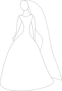 201x296 Bride In Wedding Dress Clip Art