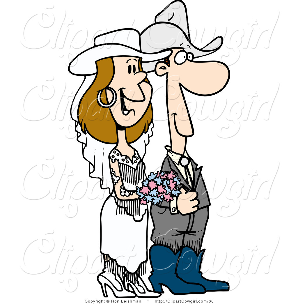 1024x1044 Clipart Of A Cowboy Wedding Couple By Toonaday