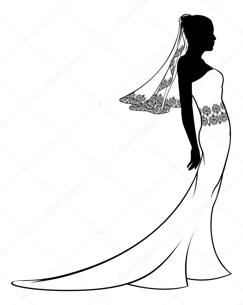 817x1023 Wedding Dress Silhouette Free Clipart Free Clip Art Images
