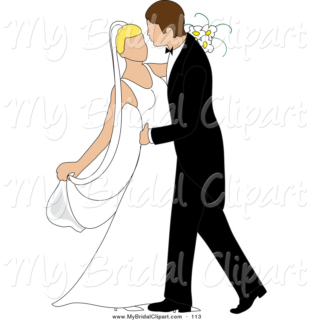 1024x1044 Bridal Clipart Of A Caucasian Newlywed Couple Dancing
