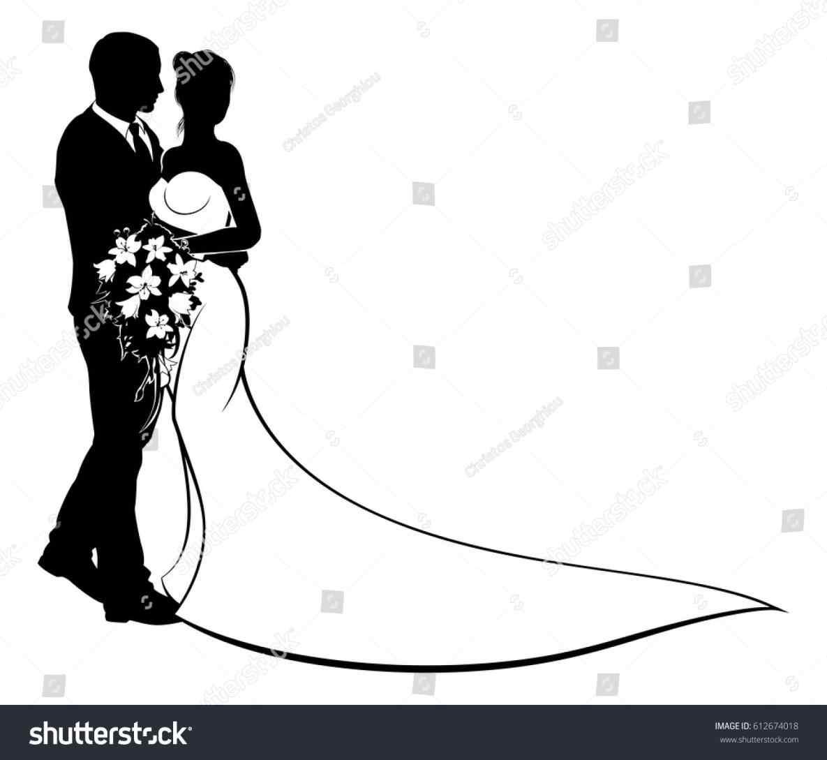 1185x1089 Bride Groom Silhouette Png