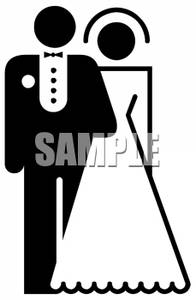 196x300 Bride And Groom Clip Art Black And White Cliparts