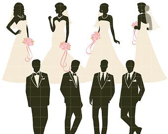 340x270 Bride Groom Clipart Etsy