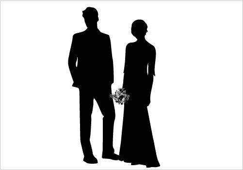 501x352 Image Of Bride And Groom Clipart 3 Wedding Silhouette Clip