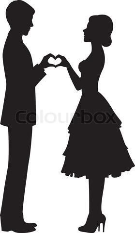 279x480 Wedding Silhouette Clip Art