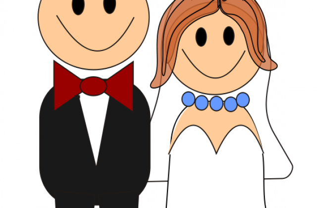 640x420 Free Cartoon Bride And Groom Clipart