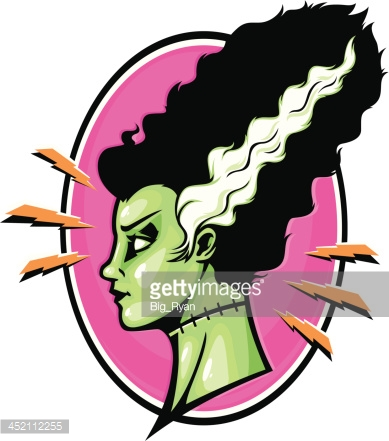389x441 Bride Of Frankenstein Clipart Vector Art