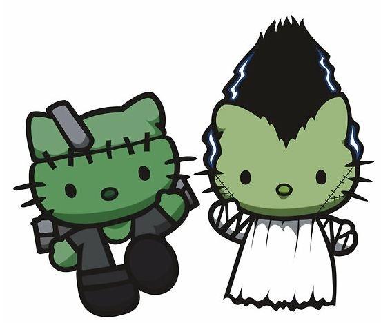 552x468 Hello Kitty Bride Of Frankenstein Hello Kitty Frankenstein