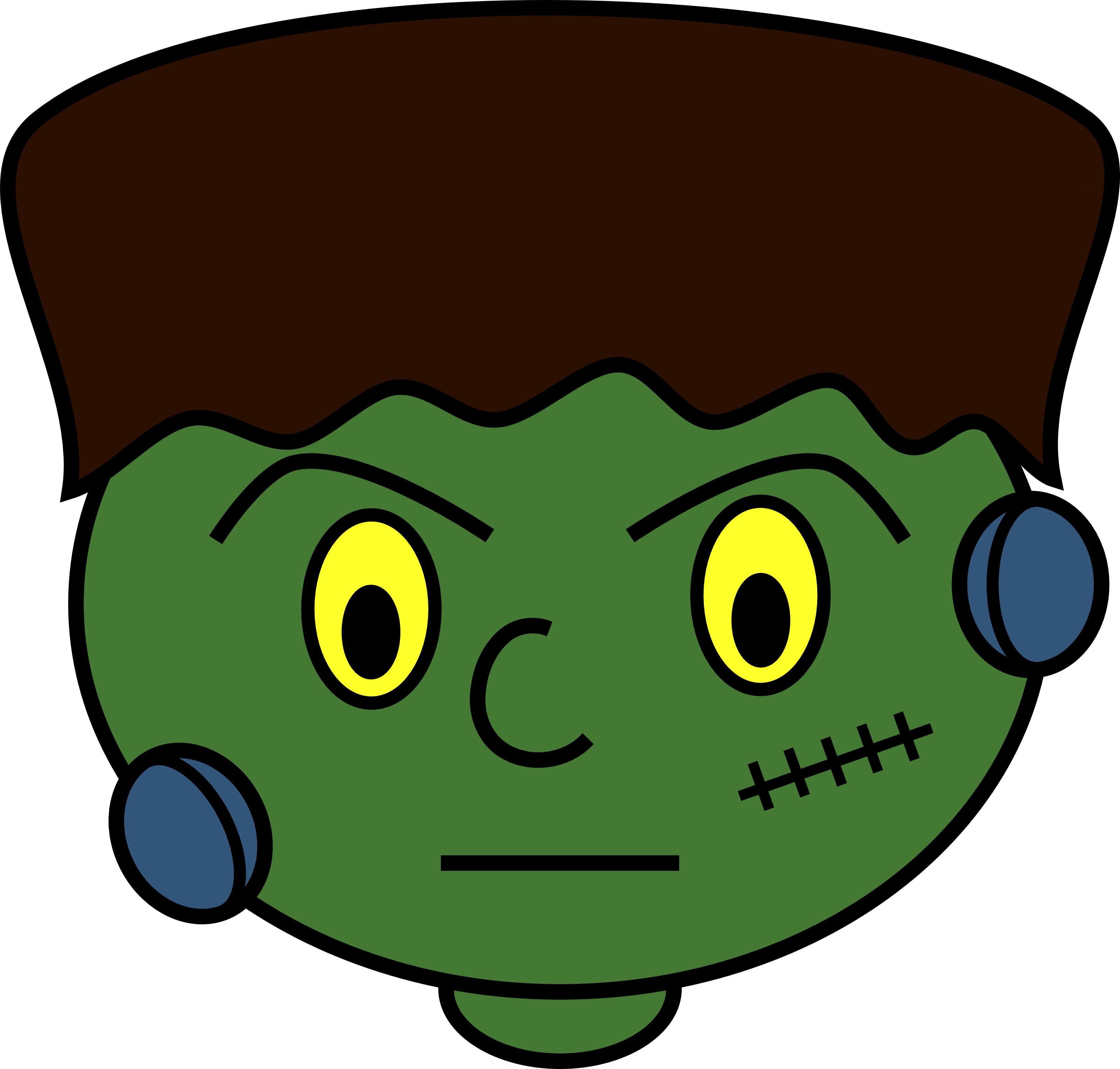 3200x3053 Bride Of Frankenstein Clipart Face