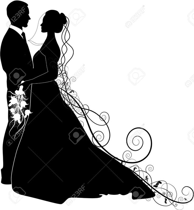 736x800 Bride And Groom Silhouette Clip Art