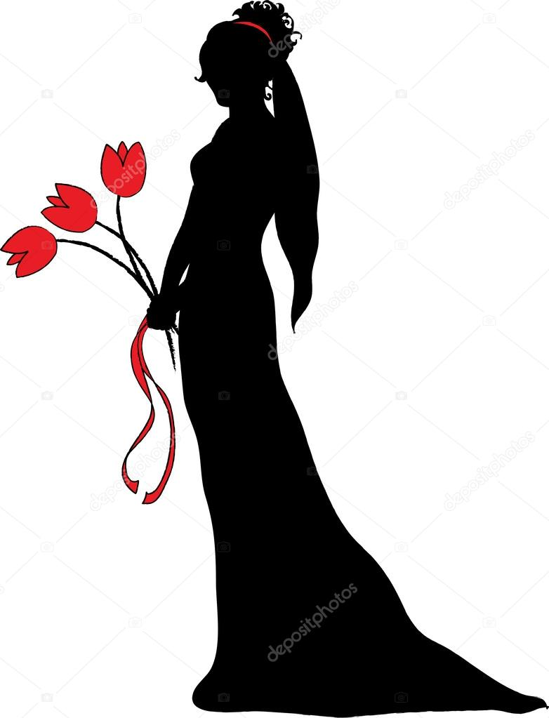 782x1023 Bride Clipart Illustration