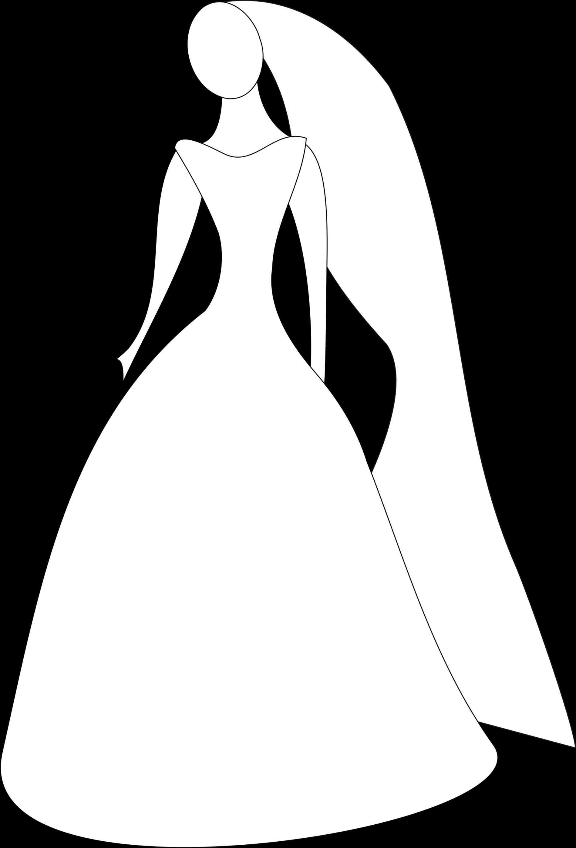 1899x2797 Bride Dress Silhouette Clip Art