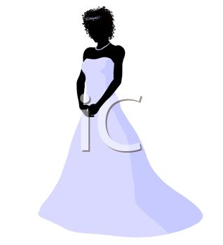 318x350 Silhouette Of An African American Bride
