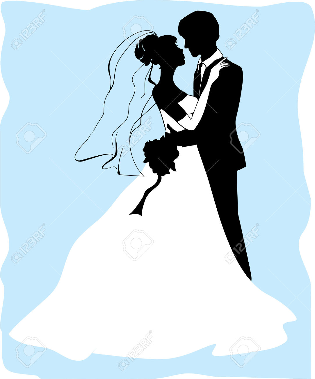1083x1300 Blue Clipart Bride And Groom