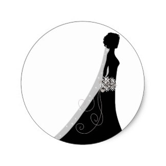 324x324 Bridal Shower Silhouette Clip Art