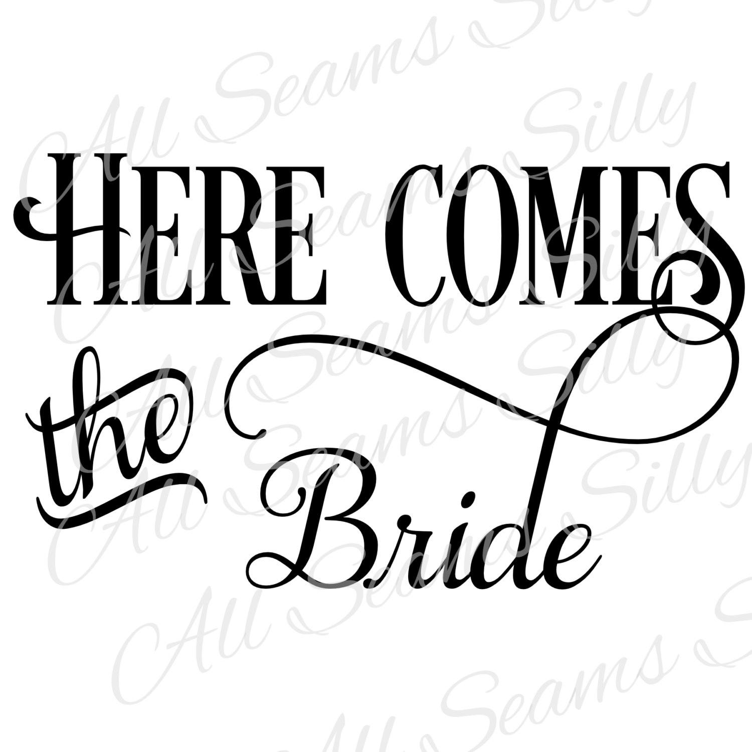 1500x1500 Bride Clipart Here Comes The Bride