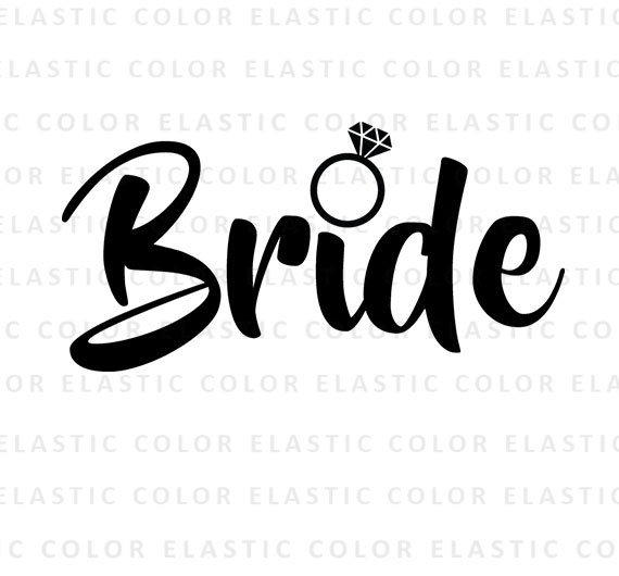 570x530 Bride Svg Bride Word Art Cut File And Printable Png Bride