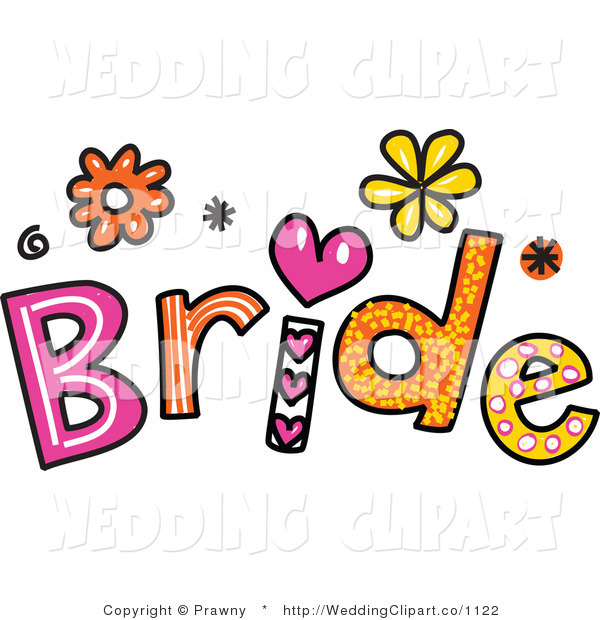 600x620 Vector Marriage Clipart Of Bride Text By Prawny