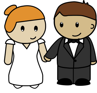 378x362 Bride And Groom Clip Art