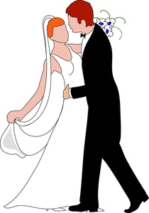 210x300 Bride And Groom Clipart Image