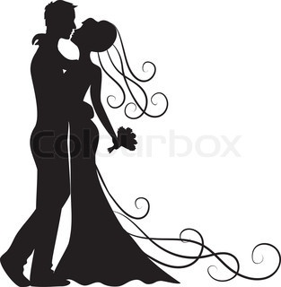 313x320 Bride And Groom Images Clip Art