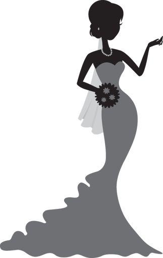 323x510 White Dress Clipart Bridesmaid Dress
