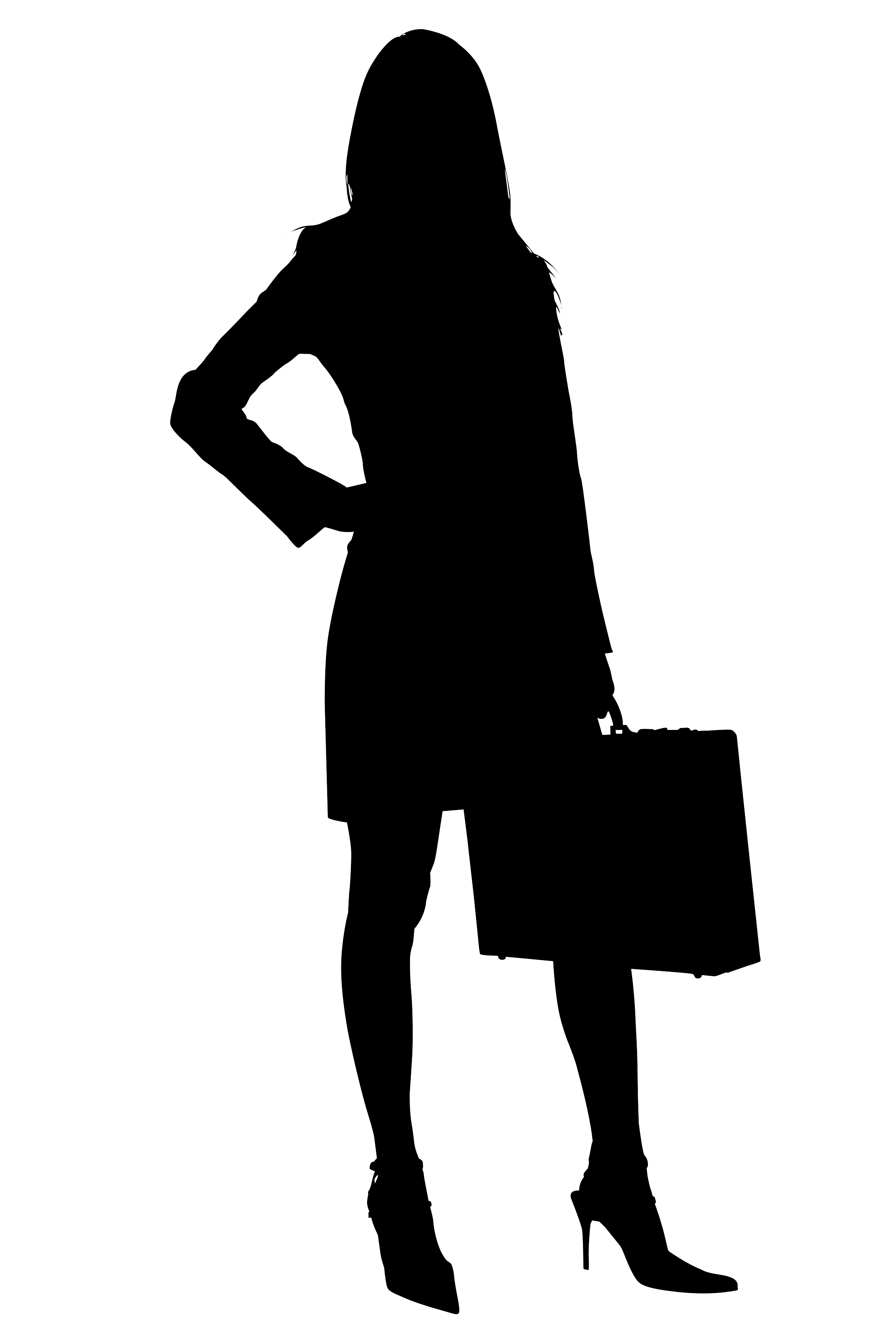 2336x3504 Business Woman Silhouette Clipart