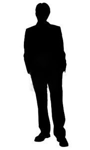 181x300 Bridesmaid Silhouettes Business Man Standing Silhouette In Black
